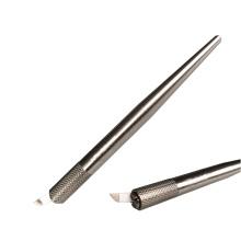 Caneta Tebori para caneta de microblagem em aço inoxidável de maquiagem permanente