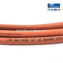 Abrasion Resistant Gas Cooker Flexible Natural LPG Smooth Rubber Hose 20bar