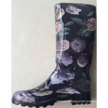 zapatos de moda las mujeres forman zapatos de lluvia de estilo nuevo