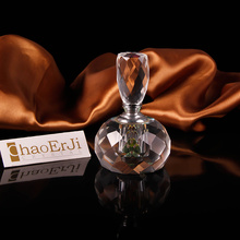 2016 new design aluminum original crystal perfume bottle gor gift