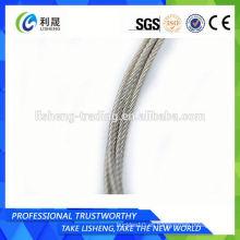 Cuerda de alambre de acero 6x7 sin galvanizar 5mm
