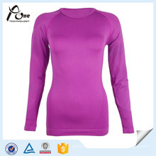 Sexy Women Seamless Thermal Long Sleeve Undershirts