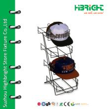Desktop cap metal wire display stand