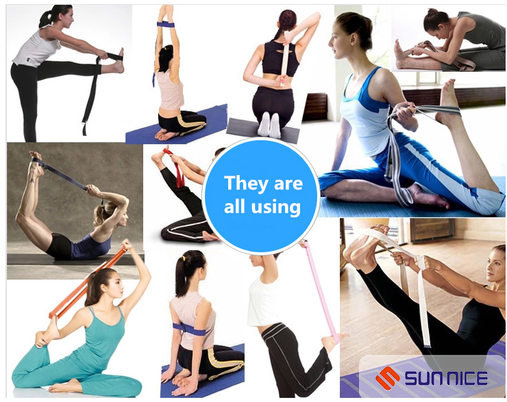 high quality Yoga Belt Custom Logo Strap