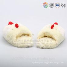 Divertidas y cálidas pantuflas de felpa con cabeza de animal
