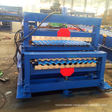 Building construction materials Double deck tile roof making roll forming machine
