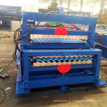 Materiais de construção civil Telhado de telha de dois andares que faz a máquina formadora de rolo