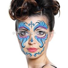 Hochwertige maßgeschneiderte ungiftige Gesichtsmaske Tattoo Aufkleber