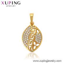 33686 xuping fashion jewelry 24k gold plated pendant luxury style pendant