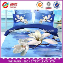 100% polyester microfiber fabric 3D style brushed bed sheet fabric
