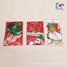 Promoción Custom birthday Cake 3D Christmas papel artesanía tarjeta Insertar