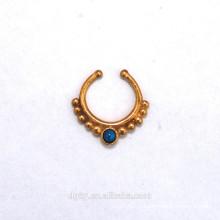 New Arrival Brass faux septum faux tabouret piercing bijoux
