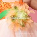 2017 new fashion dance wear performance dress one pcs Feather baby girl tutu dress