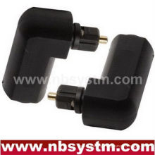 Toslink male to Toslink female adapter/angle 90 degree