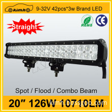 Wholesales car accessory 20inch new led light bar 126w