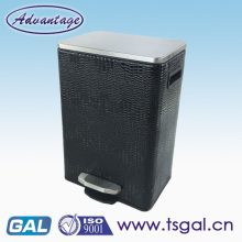 Leather Decorative Square Pedal Dustbin