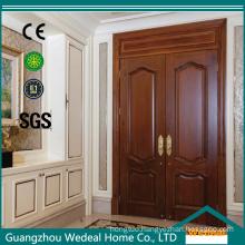 Wooden Entrance Carved Double Leaf Exterior Door