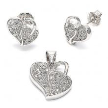 Conjunto de jóias de prata esterlina de moda 925 Micro Setting