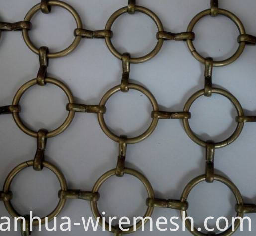 Stainless steel ring decorative wire mesh