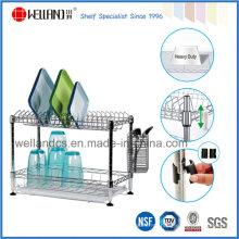 Welland patente DIY cromo metal cozinha prato rack titular