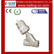 Угловой седельный клапан / Серия KLJZF Пневматический двухходовой клапан