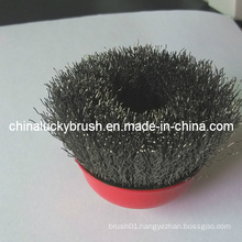 "3"" Crimped Stainless Steel Cup Brush for Grinding (YY-312)"