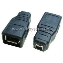 Firewire 1394 6P femelle à 4P adaptateur femelle