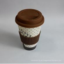 (BC-C1037) Eco Bambusfaser Kaffeetasse mit Druck