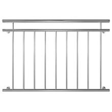 Clôture de balcon de conception de garde-corps en acier inoxydable français