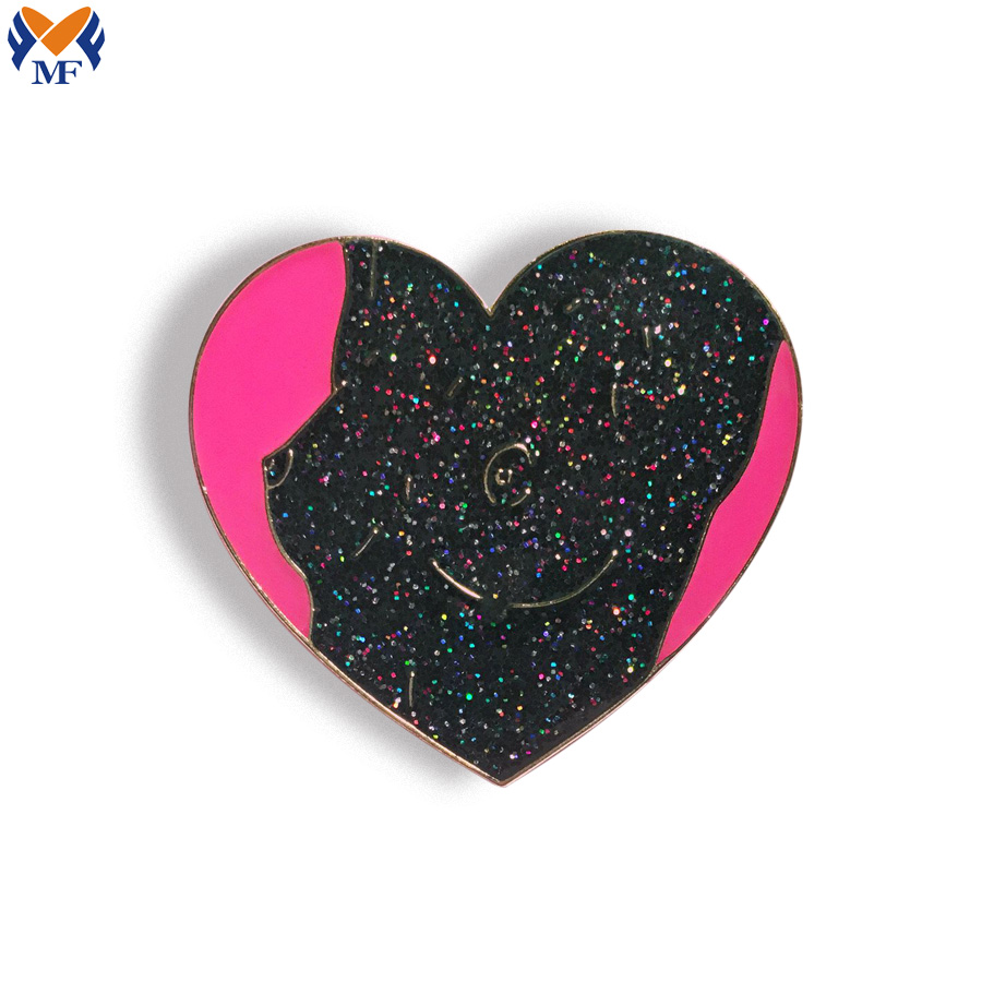 Lapel Pin With Glitter