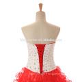 Robes de mariage de la mariée 2017 robe de mariée rouge robe de mariée princesse pour la photo