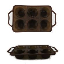 6 Cavity Silicone Cake Molds