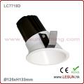 Teto Recessed Downlight LC7718d do diodo emissor de luz do COB da instalação 12W Dimmable