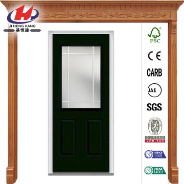 Glass PIM 1/2 Lite  Steel Prehung Front Door