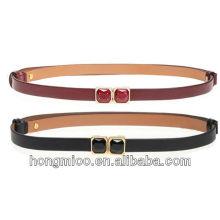 Fashion llady skinny pu belt