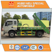 FOTON 4x2 6cbm swinging arm garbage truck diesel engine 130hp recycling type