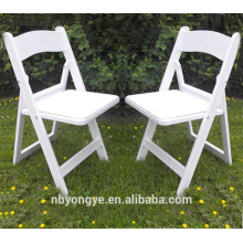 Durable high quality White Resin Folding Chair for wedding