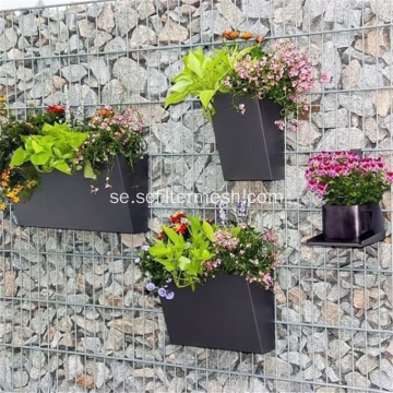 Svetsad Wire Mesh Rock Gabion Basket Wall