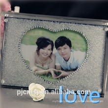 love crystal photo frame for couple or gifts ,home decoration