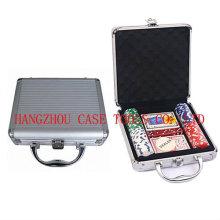 набор микросхем покера алюминиевый 100шт фишки