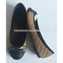 Wholesale cheap price ballerina round toe padded flats ballet with bow women's shoe