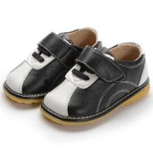 Черный белый крючок и петля Baby малышей обувь мальчик