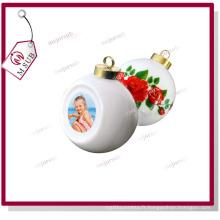 Noël boule en céramique avec Sublimation Photo imprimée