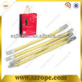 rope with metal barb end for bag handle