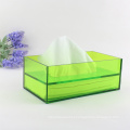Exquisite red acrylic tissue box with cosmetic