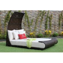 Exklusives, atemberaubendes Design Synthetisches Poly Rattan Double Daybed oder Sonnenbank Für Outdoor Garten Patio Beach Pool Wicker Möbel