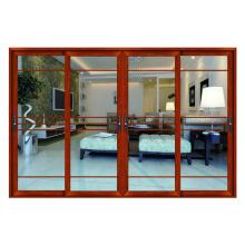 Portas de painéis de vidro de Design francês interiores de alumínio decorativas