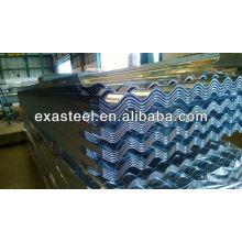 Materiales de construcción galvanizados v crimp roofing