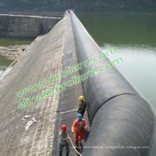 Represa inflável das energias hidráulicas redondas de China a África do Sul