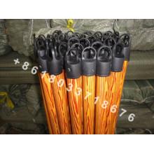 Цветная крышка Деревянная ручка метлы с покрытием ПВХ для оптовой продажи
